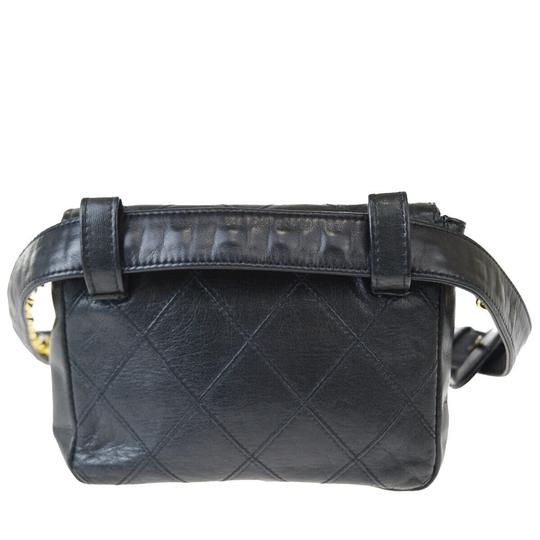 Chanel Quilted Chain Cc Leather Rare Cross Body Bag Image 5