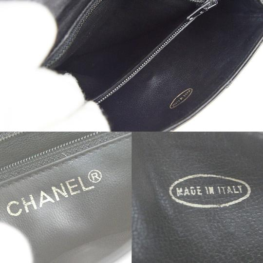 Chanel Quilted Chain Cc Leather Rare Cross Body Bag Image 9