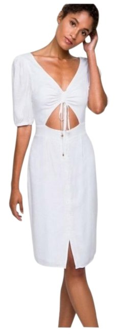 Preload https://img-static.tradesy.com/item/26262924/white-by-pooja-palmetto-linen-mid-length-night-out-dress-size-6-s-0-1-650-650.jpg