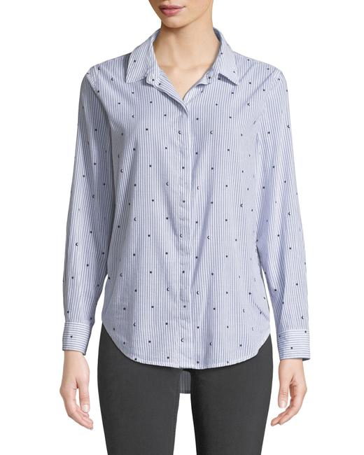 Rails Equipment Paige Madewell Supreme Button Down Shirt white blue Image 1