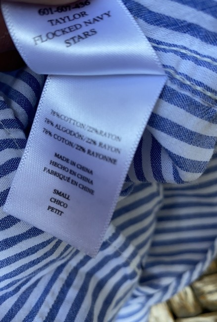 Rails Equipment Paige Madewell Supreme Button Down Shirt white blue Image 10