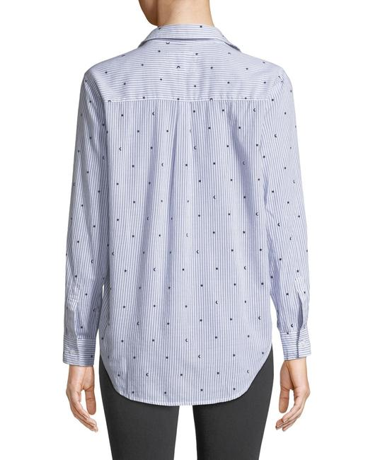 Rails Equipment Paige Madewell Supreme Button Down Shirt white blue Image 2