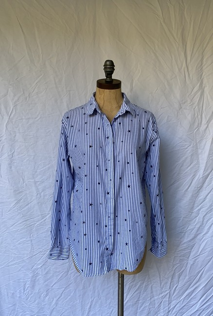 Rails Equipment Paige Madewell Supreme Button Down Shirt white blue Image 3