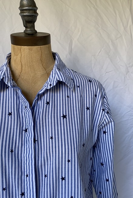 Rails Equipment Paige Madewell Supreme Button Down Shirt white blue Image 4