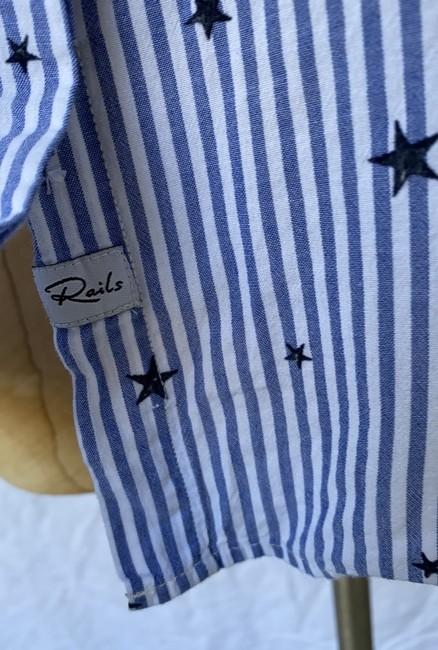 Rails Equipment Paige Madewell Supreme Button Down Shirt white blue Image 5