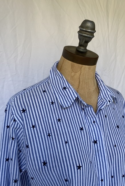 Rails Equipment Paige Madewell Supreme Button Down Shirt white blue Image 6