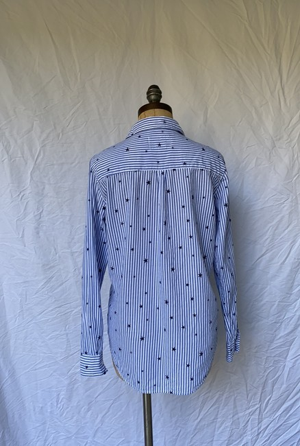 Rails Equipment Paige Madewell Supreme Button Down Shirt white blue Image 7