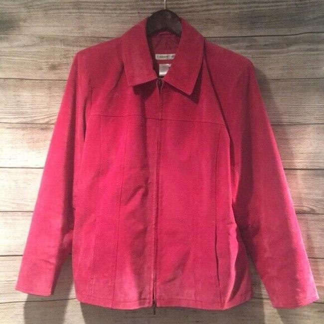 Coldwater Creek Suede Zipper Pink Leather Jacket Image 1