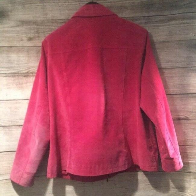 Coldwater Creek Suede Zipper Pink Leather Jacket Image 2