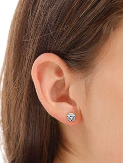 Other PLATINUM PLATED .925 SILVER SWAROVSKI CYSTRALS STUD EARRINGS Image 5