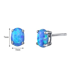other Oval Opal Studs