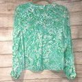 Lilly Pulitzer Silk Tab Sleeve Pop Over Tunic Jungle Top Green Image 3