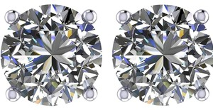 Other PLATINUM PLATED .925 SILVER SWAROVSKI CYSTRALS STUD EARRINGS