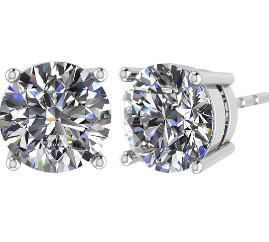 Other PLATINUM PLATED .925 SILVER SWAROVSKI CYSTRALS STUD EARRINGS Image 1