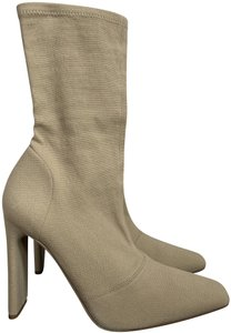 YEEZY Stretch Canvas Square Toe Beige Boots