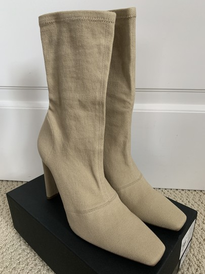 YEEZY Stretch Canvas Square Toe Beige Boots Image 1