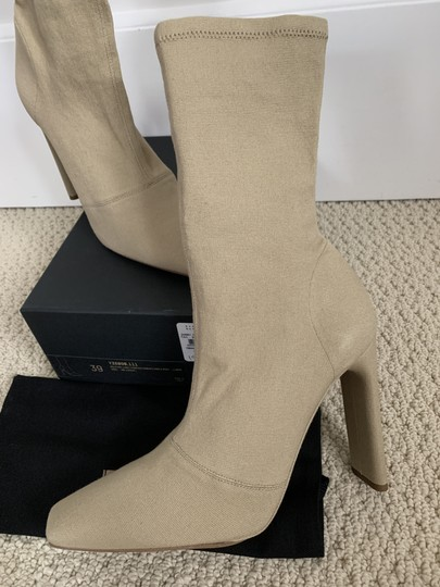 YEEZY Stretch Canvas Square Toe Beige Boots Image 10