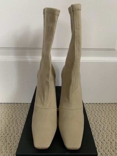 YEEZY Stretch Canvas Square Toe Beige Boots Image 2