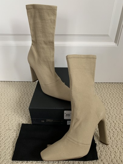 YEEZY Stretch Canvas Square Toe Beige Boots Image 3