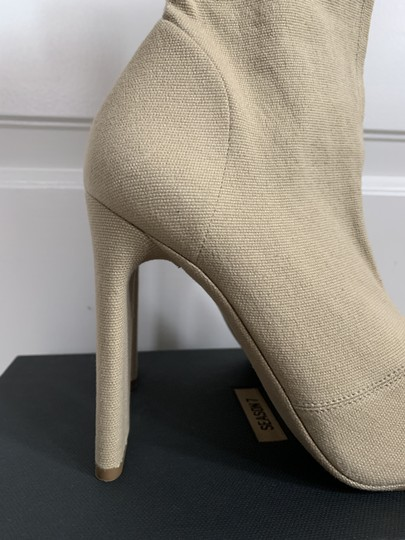 YEEZY Stretch Canvas Square Toe Beige Boots Image 6