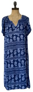Velvet by Graham & Spencer short dress blue white Paisley Summer Bohemian on Tradesy