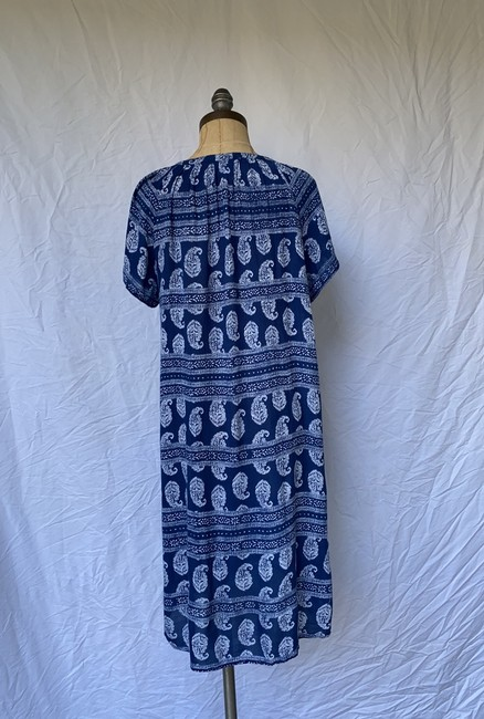 Velvet by Graham & Spencer short dress blue white Paisley Summer Bohemian on Tradesy Image 3