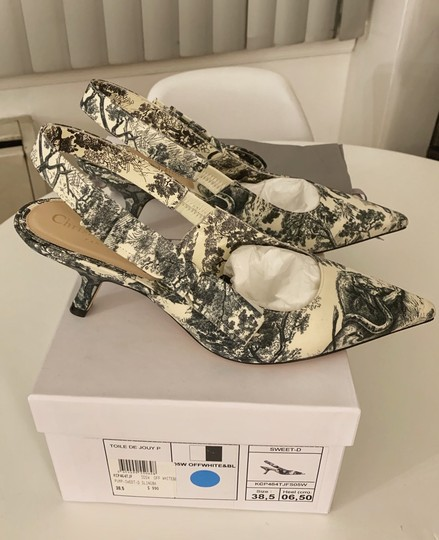 Dior Off White and Black Pumps Image 2