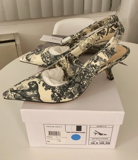 Dior Off White and Black Pumps Image 3