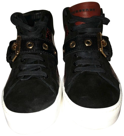 Preload https://img-static.tradesy.com/item/26263152/burberry-london-black-with-dark-red-high-top-and-snakeskin-sneakers-size-eu-38-approx-us-8-regular-m-0-1-540-540.jpg