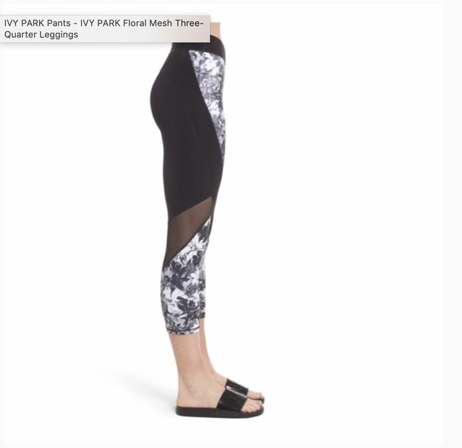 Ivy Park Floral Mesh Three-quarter Leggings Image 1