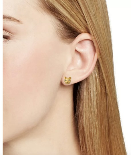 Kate Spade NWT KATE SPADE CAT AND PAVE SPHERE MISMATCHED STUDS EARRINGS W BAG Image 2