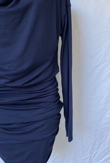 Athleta short dress blue Solstice Cowlneck Ruched Bodycon on Tradesy Image 1