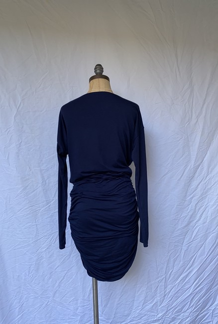 Athleta short dress blue Solstice Cowlneck Ruched Bodycon on Tradesy Image 3