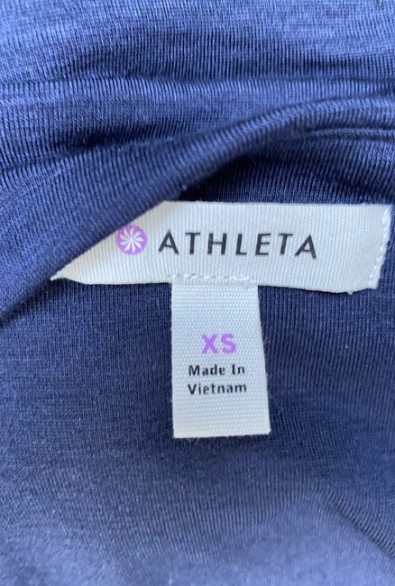 Athleta short dress blue Solstice Cowlneck Ruched Bodycon on Tradesy Image 4