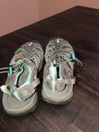 KEEN Water Travel Lightweight Walking Turquoise & Gray Athletic Image 2
