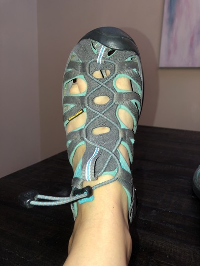 KEEN Water Travel Lightweight Walking Turquoise & Gray Athletic Image 3