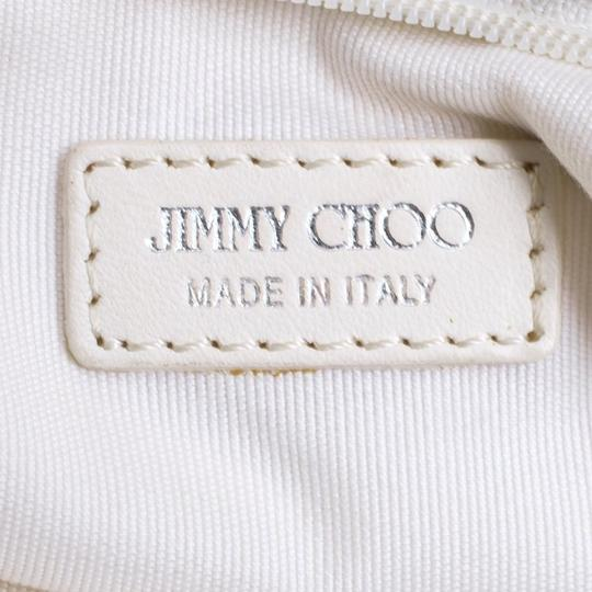 Jimmy Choo Leather Studded White Clutch Image 8