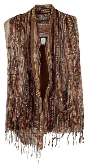 Preload https://img-static.tradesy.com/item/26263251/brown-orange-fall-colors-boho-striped-vest-scarfwrap-0-1-540-540.jpg