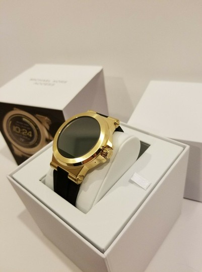 Michael Kors New Michael Kors Access Touch Screen Black and Gold Tone Smartwatch Image 1