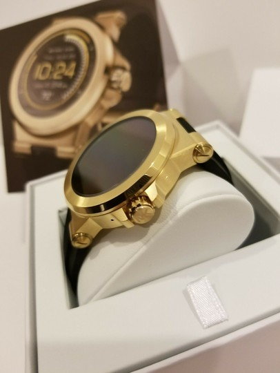 Michael Kors New Michael Kors Access Touch Screen Black and Gold Tone Smartwatch Image 2
