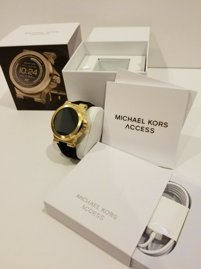 Michael Kors New Michael Kors Access Touch Screen Black and Gold Tone Smartwatch Image 4