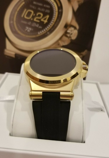 Michael Kors New Michael Kors Access Touch Screen Black and Gold Tone Smartwatch Image 5