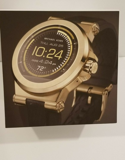 Michael Kors New Michael Kors Access Touch Screen Black and Gold Tone Smartwatch Image 8