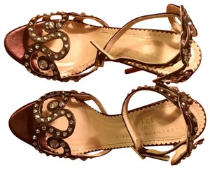 Charlotte Olympia Bronze Sandals