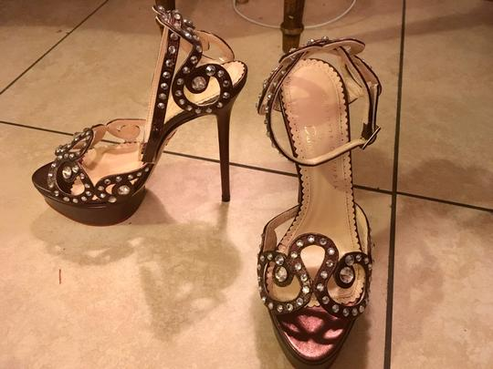 Charlotte Olympia Bronze Sandals Image 4