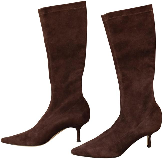 Item - Coffee Ivy Stretch Suede Boots/Booties Size EU 38 (Approx. US 8) Regular (M, B)