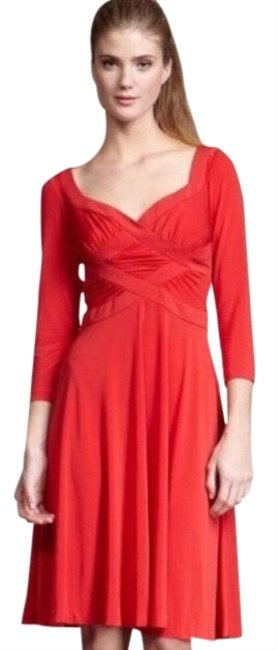 Preload https://img-static.tradesy.com/item/26263418/halston-red-criss-cross-bodice-mid-length-cocktail-dress-size-4-s-0-3-650-650.jpg