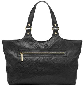 Tory Burch Shoulder Leather Tote in Black