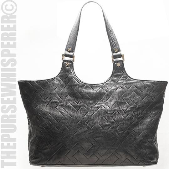 Tory Burch Shoulder Leather Tote in Black Image 1
