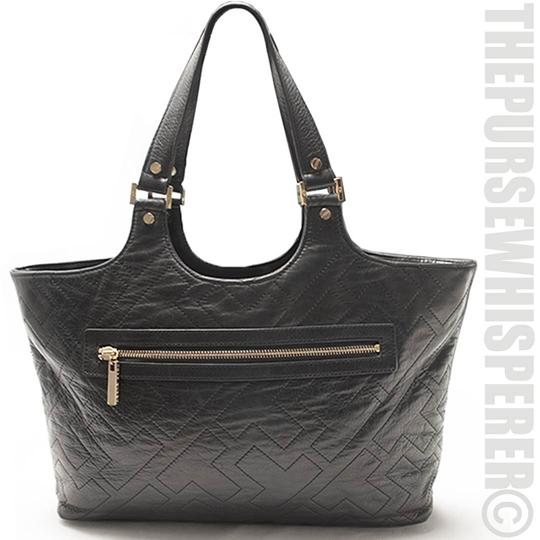 Tory Burch Shoulder Leather Tote in Black Image 10